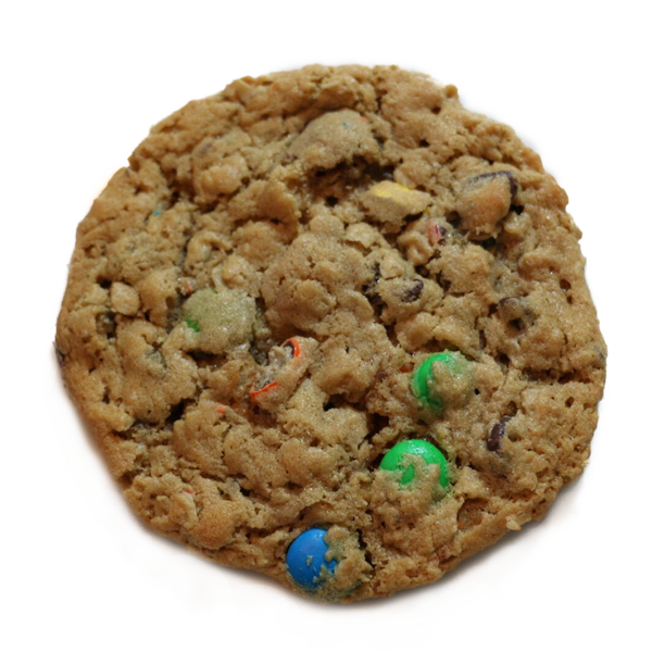 homemade m&m cookie
